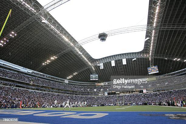 Sun comes through the roof of Texas stadium during the game between the Philadelphia Eagles and the Dallas Cowboys on December 16 2007 at Texas...