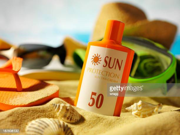 Sun Cream in the Sand