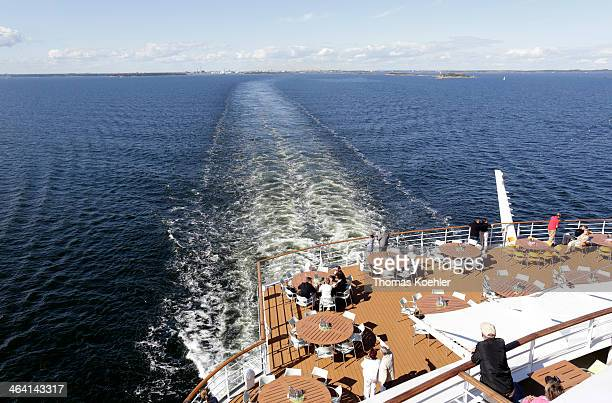Sun deck of an Aida cruise ship on June 29 in Baltic Sea Germany AIDA Cruises is a BritishAmerican owned German cruise line based in Rostock Germany...