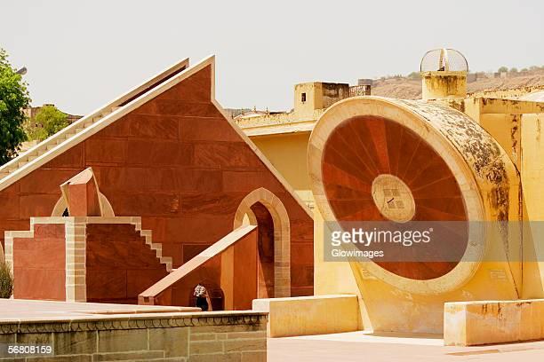 Sun dial at an observatory, Jantar Mantar, Jaipur, Rajasthan, India