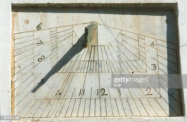 Sun dial Marble sundial Marrakech Morocco