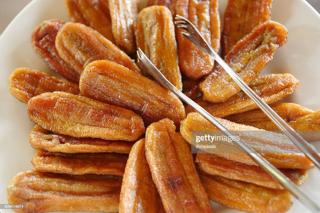 Sun Dried Bananas : Stock Photo