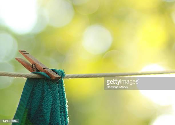 Sun dried towel