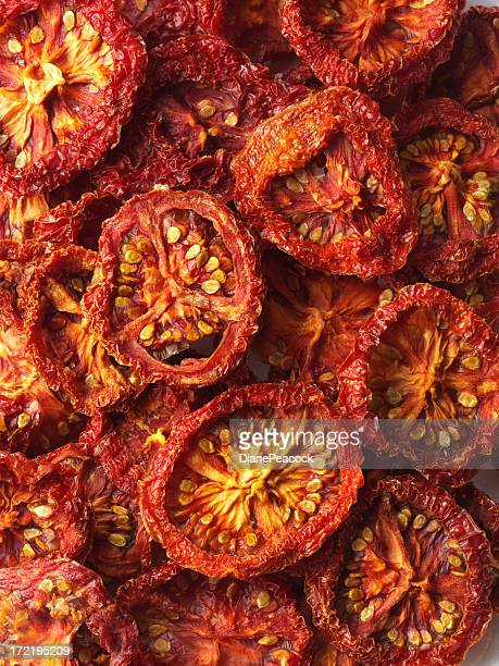 sun driwd tomatoes - dried food stock pictures, royalty-free photos & images