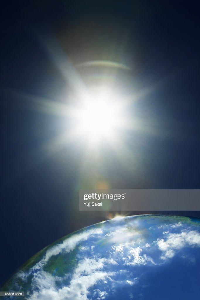 sun & earth : Stock Photo