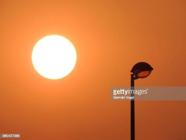 Sun energy and light source and its imitation, a street lamp - Hefei, China