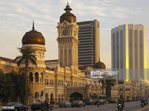 Sun falling on Sultan Abdul Samad Building, Kuala Lumpur, Malaysia