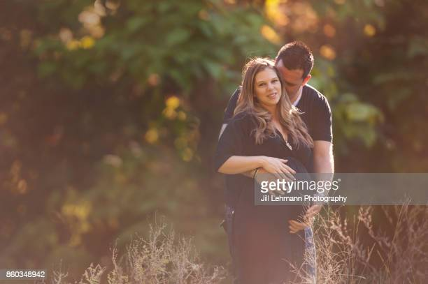 Sun filled Maternity Session of Expectant Mother and Father of Twins
