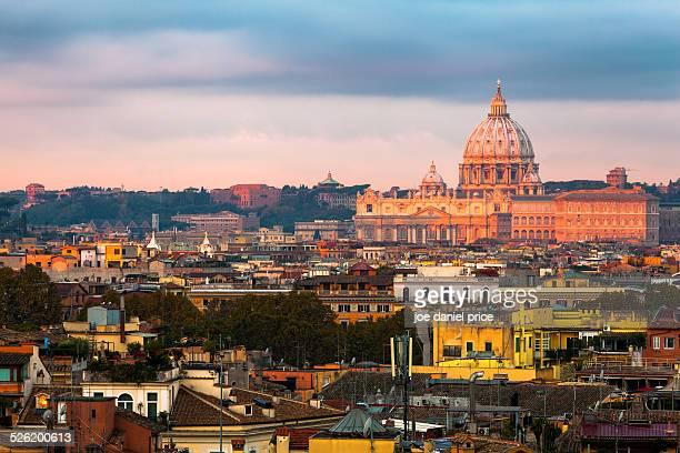 Sun Glow on St Peter's Basilica, Rome, Italy