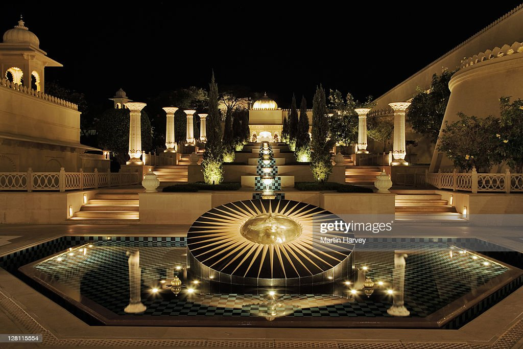 Sun God Fountain At The Ultra Luxurious Udaivilãs Oberoi