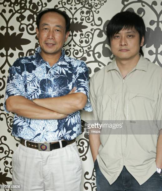 Sun Hai Yung and Zhang Yang director during 2005 Toronto Film Festival 'Sunflower' Portraits at HP Portrait Studio in Toronto Canada