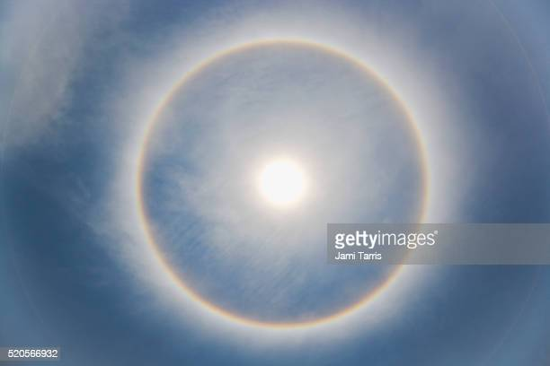 sun halo over the cuiaba river - cuiaba river stock pictures, royalty-free photos & images