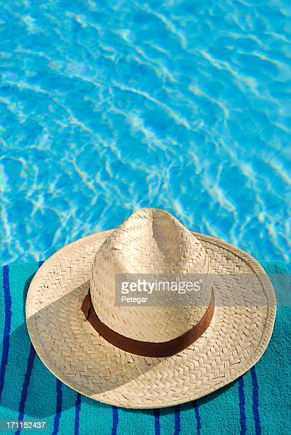 Sun Hat by a Swimming Pool