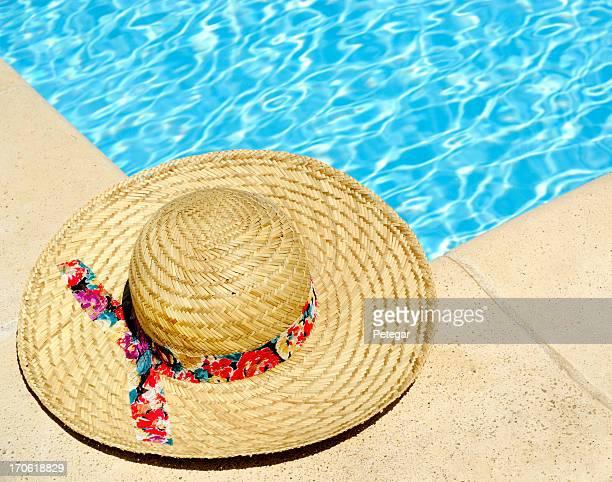 Sun Hat by Pool
