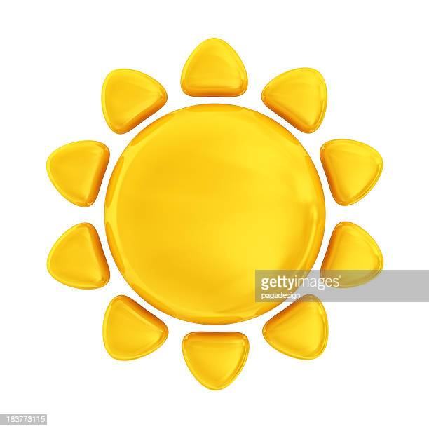 sun icon - suns stock photos and pictures