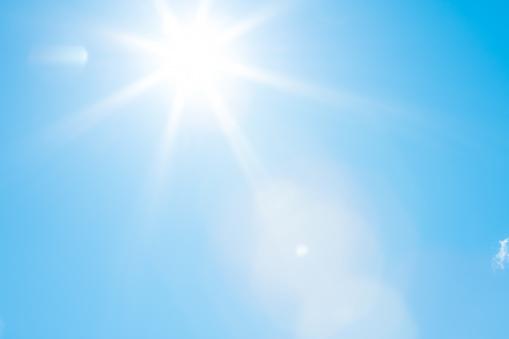 Sun in a blue sky - 50 megapixels 961975724