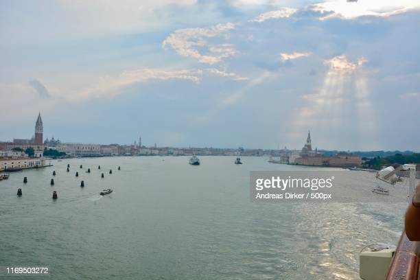 sun is breaking through in venice - andreas solar stock pictures, royalty-free photos & images