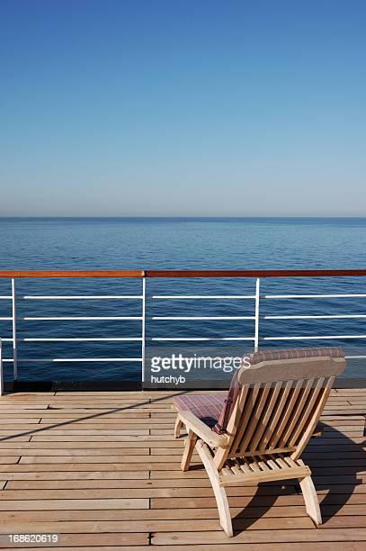Sonnenliege auf einem Kreuzfahrtschiff
