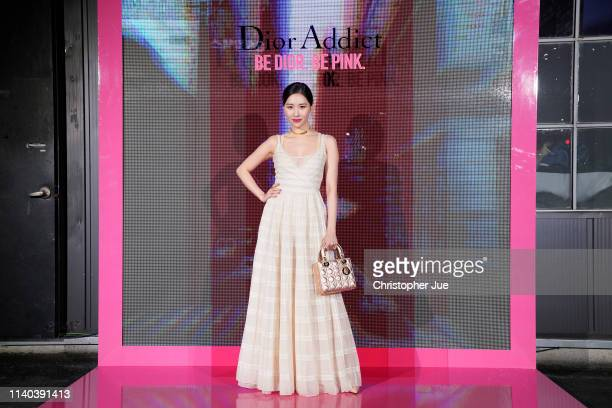 Sun Mi attends Dior Addict Stellar Shine launch at Layers 57 on April 04 2019 in Seoul South Korea