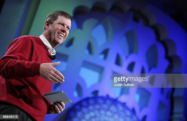 Sun Microsystems CEO Scott McNealy delivers a keynote address at the 2006 RSA Conference February 14 2006 in San Jose California The conference...