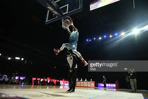 Sun Minghui dunks in the final match of Slam Dunk during 2017 CBA AllStar Weekend at LeSports Center on January 8 2017 in Beijing China