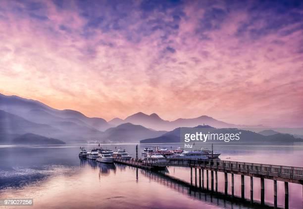 sun moon lake, taiwan - taiwan imagens e fotografias de stock
