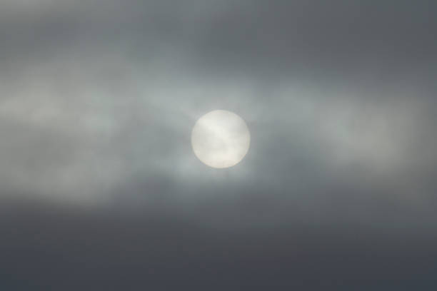 Sun obscured by clouds