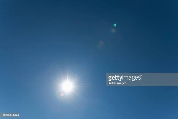 Sun on clear sky