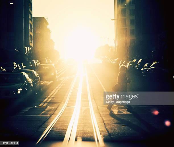 Sun on tracks