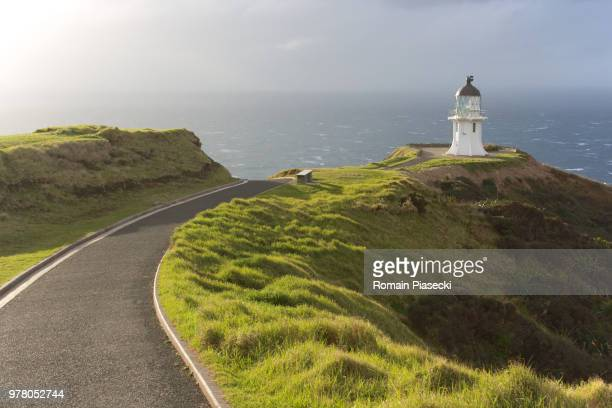 Sun over Cape Reinga, Cape Reinga, North Island, New Zealand