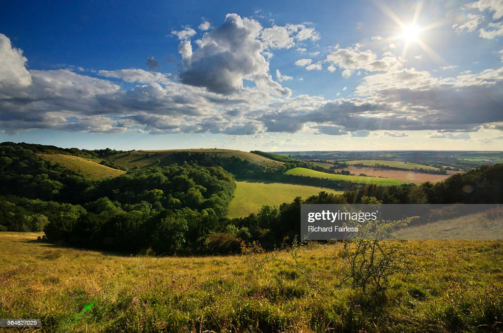 Sun over Old Winchester Hill : Foto de stock