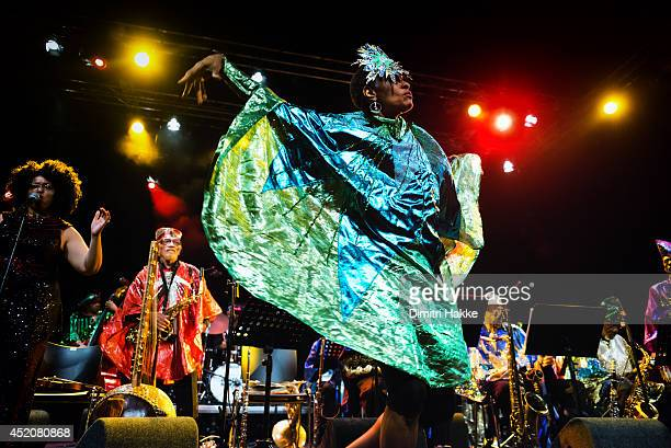 Sun Ra Centennial Dream Arkestra perform on stage at North Sea Jazz Festival on July 12 2014 in Rotterdam Netherlands