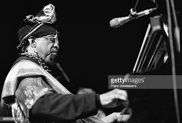 Sun Ra, piano, performs at Jazz Middelheim on 10th March 1990 in Amsterdam, the Netherlands.