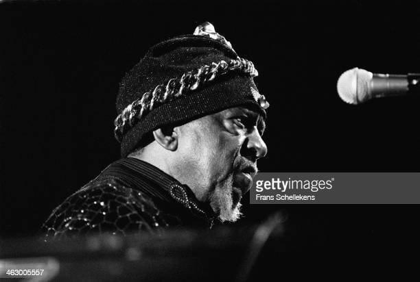 Sun Ra, piano, performs the North Sea Jazz Festival in the Hague, the Netherlands on 13 July 1990.