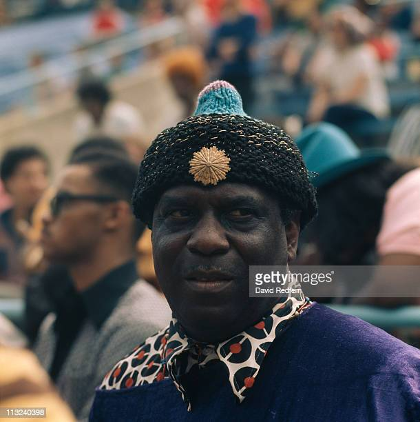 Sun Ra US jazz pianist and band leader at the Newport Jazz Festival in Newport Rhode Island USA July 1973