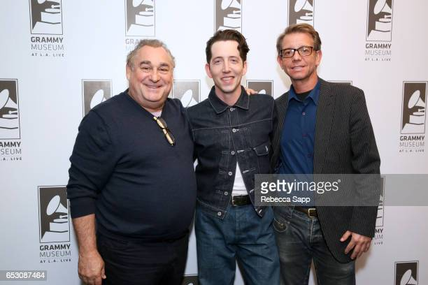 'Sun Records' executive producer Leslie Greif musician Pokey LaFarge and talent producer/music supervisor Jonathan McHugh attend The Man Behind 'Sun...