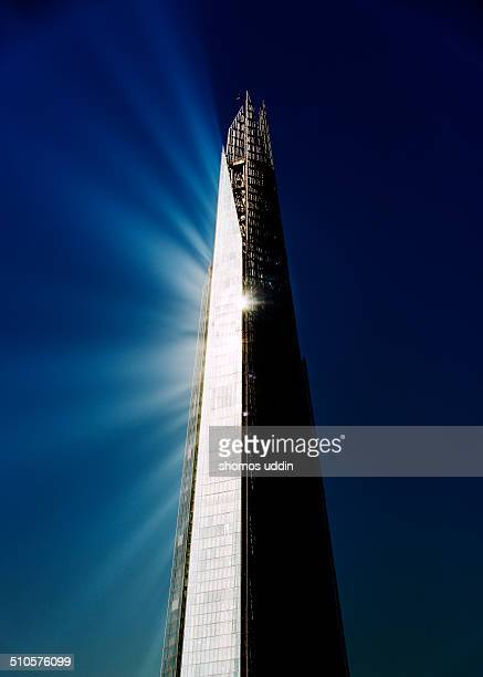 Sun reflecting off the tip of The Shard