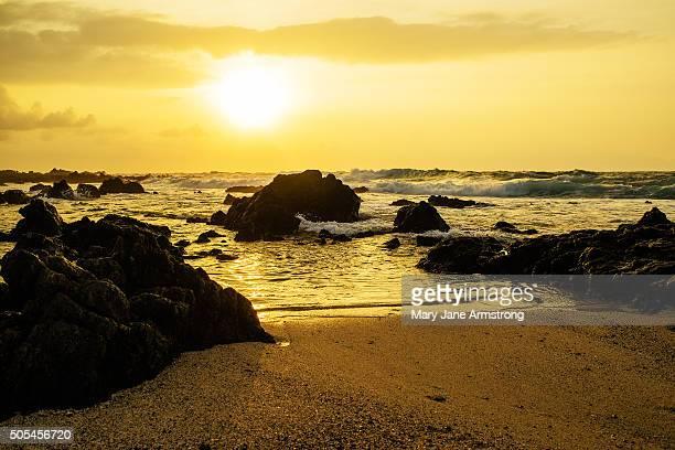 Sun Rise over Sandy Beach
