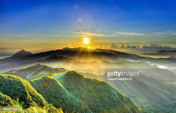 sun rise - taiwan stock pictures, royalty-free photos & images