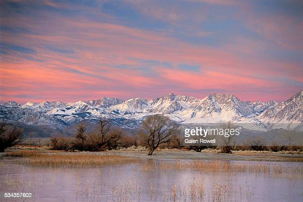 sun rising on the sierras - central california stock pictures, royalty-free photos & images