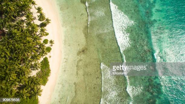 sun, sand and waves - hispaniola stock photos and pictures