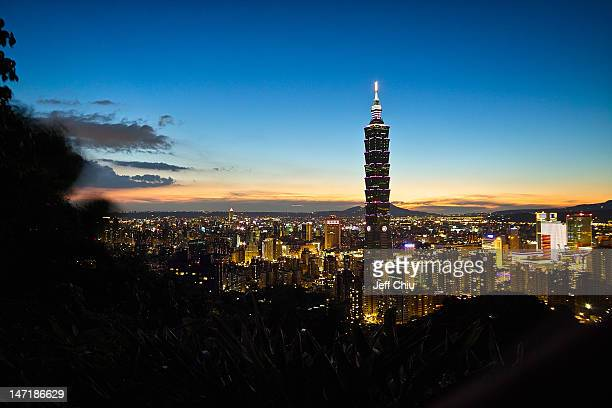 Sun set of Taipei