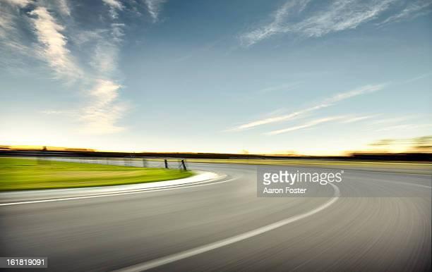 Sun Set Race Track Corner 2