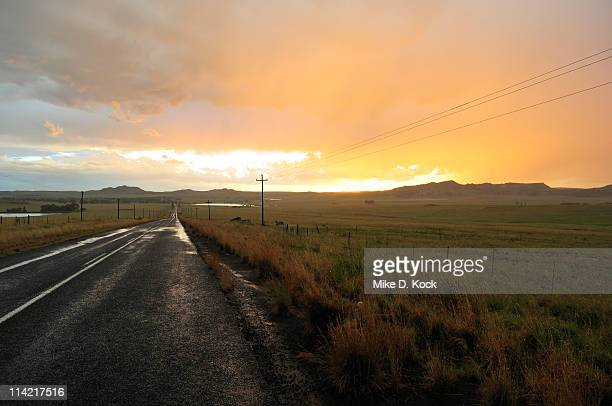 sun setting after rain, free state province, south africa - after stock photos and pictures
