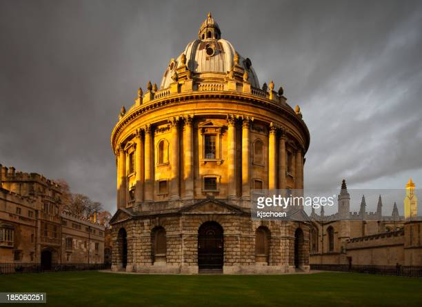 Sun setting on Radcliffe Camera, Oxford University