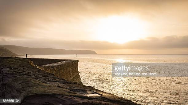 sun setting over whitehaven - cumbria stock pictures, royalty-free photos & images