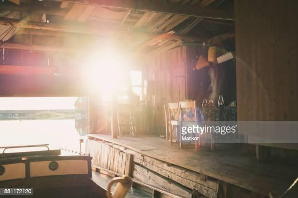 Sun shining in holiday villa
