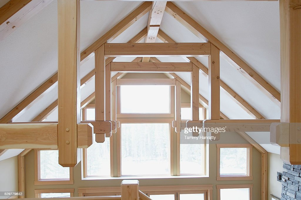 Sun shining into vaulted ceiling : Stock Photo