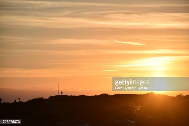 sun shining over landscape - gard stock photos and pictures