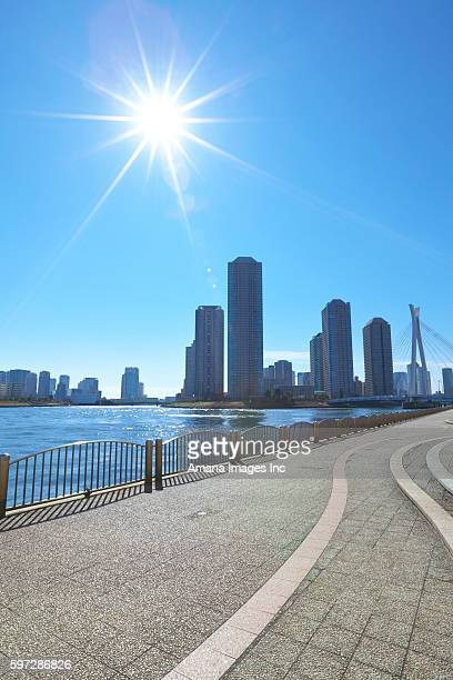 Sun Shining Over Sumida River
